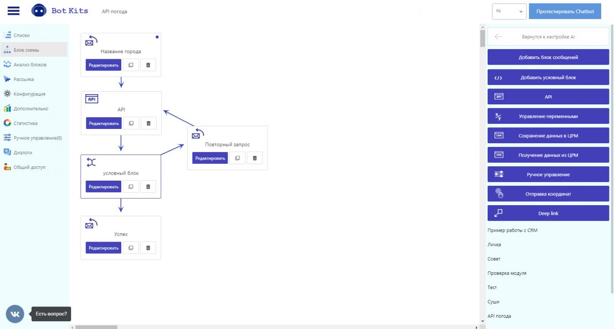 Блок API 3